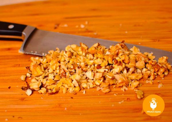 Мелко измельченные орехи