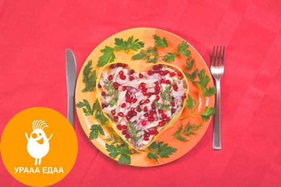сердечко на тарелке