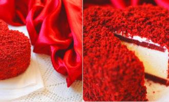 торт на день влюбленных своими руками, рецепт с фото