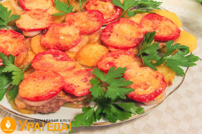 говядина с помидорами