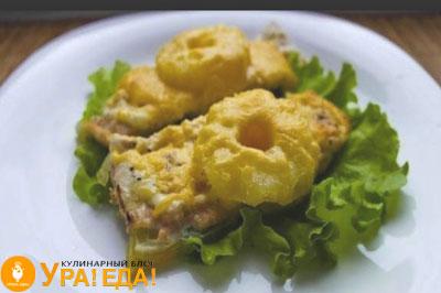 говядина с ананасами