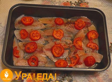 выложенные помидоры