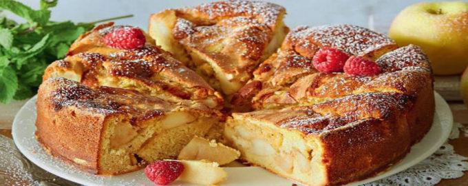 шарлотка классическая с яблоками, рецепт с фото пошагово в духовке