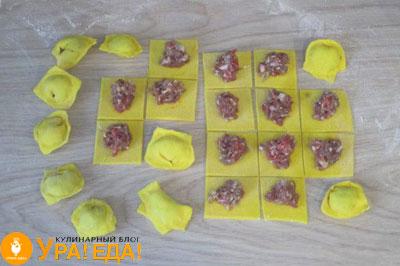 желтые пельмешки