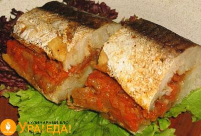 рыба с овощной начинкой