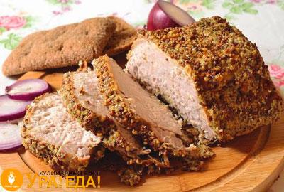 мясо в горчичной корочке