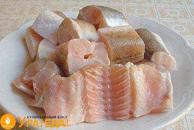 рыба кусочками