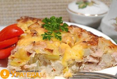 картошка с филе