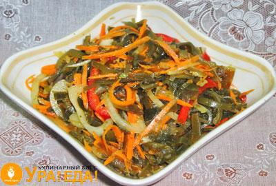 морковная закуска с морской капустой
