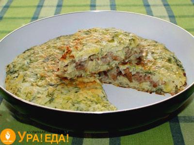 капустный пирог на сковородке