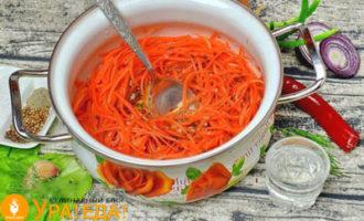 долитое в морковку масло