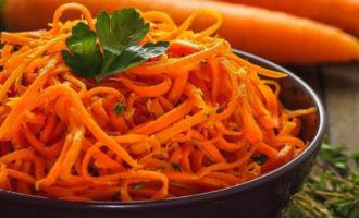 морковь по-корейски в домашних условиях, рецепт фото пошагово