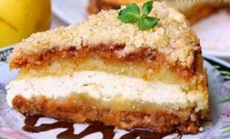 пирог с яблоками и творогом – быстро, просто и вкусно в духовке