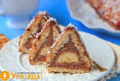 торт шалаш с бананом