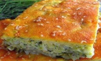 пирог с капустой и яйцом в духовке, пошаговый рецепт с фото заливной