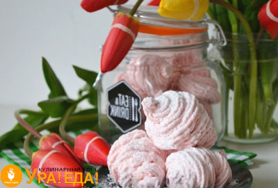 готовые розовые зефирки