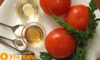 помидоры, масло и остальные компоненты