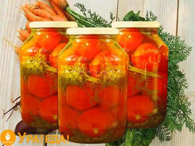 помидорки с ботвой от морковки