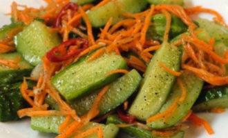 огурцы по-корейски, самый вкусный рецепт быстрого приготовления