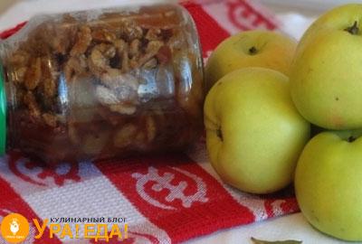 десерт из яблок с грецкими орешками