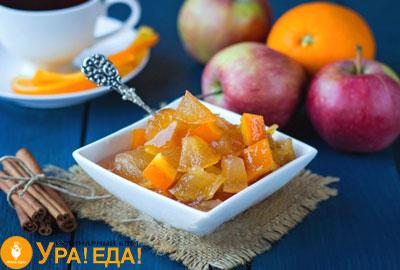 варенье яблочное с апельсином в миске