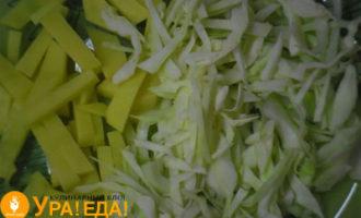 картошка с капустой нарезанные