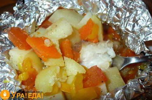 рыба с картошкой в фольге