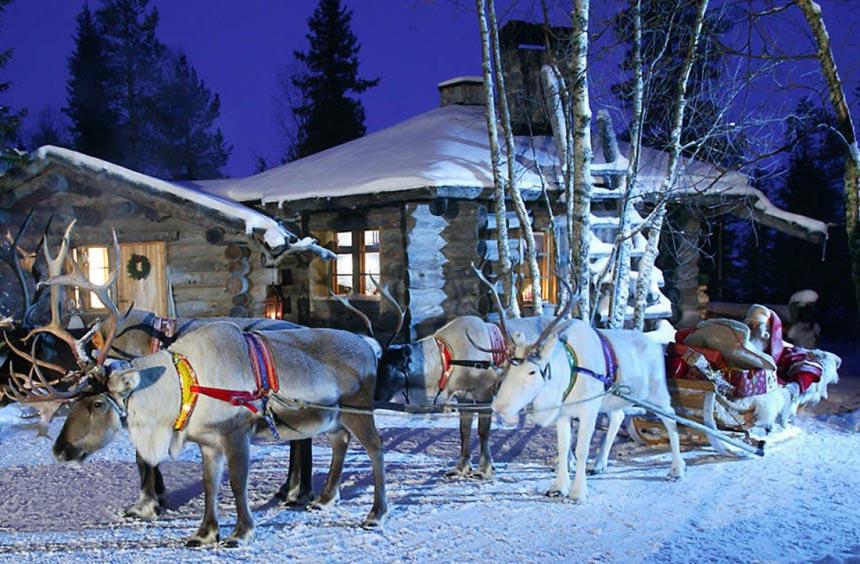 Провести новый год в Финляндии